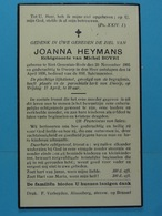 Joanna Heymans épse Bovri Sint Genesius-Rode 1865 Dworp 1936 - Images Religieuses