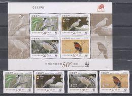 Macau/Macao 2011 Birds/50th Anniversary Of WWF (stamps 4v + MS/Block) MNH - Neufs