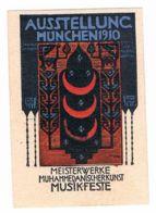 A11) München, Ausstellung 1910, Muhammedanische Kunst, Reklamemarke, Vignette - Vignetten (Erinnophilie)