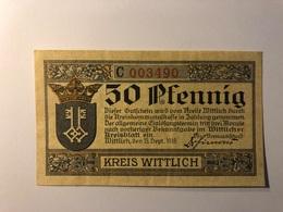 Allemagne Notgeld Allemagne Wittlich 50 Pfennig - [ 3] 1918-1933 : République De Weimar