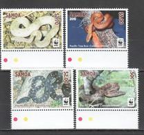 W780 2015 SAMOA WWF FAUNA REPTILES SNAKES PACIFIC TREE BOA 1SET MNH - W.W.F.