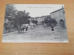 Cpa-Lançon(13)-entrée Et Place De La République(animée) - France