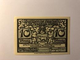 Allemagne Notgeld Allemagne Wohlau 10 Pfennig - [ 3] 1918-1933 : République De Weimar