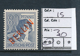 GERMANY BERLIN YVERT 15 MNH - [5] Berlin