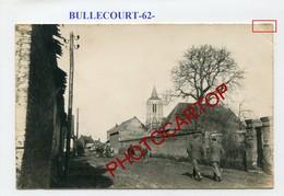 BULLECOURT-CARTE PHOTO Allemande-Guerre 14-18-1WK-France-62-Militaria- - Altri Comuni
