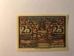 Allemagne Notgeld Allemagne Wohlau 25 Pfennig - [ 3] 1918-1933 : République De Weimar