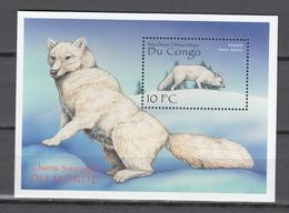 Congo 2000,1V In Block,chiens Sauvage,wild,dogs,fox,vos,MNH/Postfris(L3416) - Honden