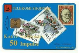 Albania - Tessera Telefonica Da 50 Units T582 TELEKOMI - Timbres & Monnaies