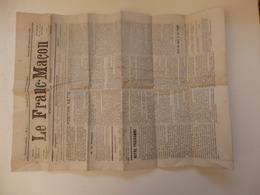 """Journal """"Le Franc-Maçon"""". - 1850 - 1899"""