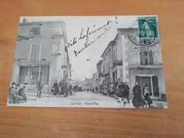 Cpa-La Fare(13)-grand'rue(animée) - France
