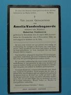 Amelia Vandenbogaerde Vve Vanhaeren Breedene 1854 Clemskerke 1924 - Images Religieuses