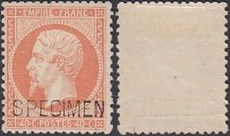 FRANCE 1862 Yv 23 Surcharge SPECIMEN Avec Charniere (DD) DC-1105 - Specimen
