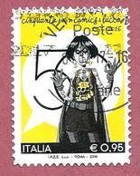 ITALIA REPUBBLICA USATO - 2016 - Cinquantesima Edizione Di Lucca Comics - € 0,95 - S. 3729 - 2011-...: Usati