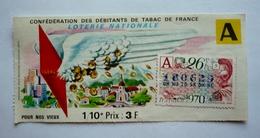 """Billet - LOTERIE NATIONALE  1970 """"- POUR NOS VIEUX - Confédération Des Débitants De Tabac De France - Billets De Loterie"""