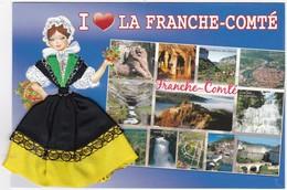 CARTE BRODEE:  LA FRANCHE-COMTE - Brodées
