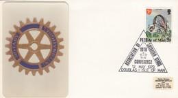 ROTARY.  ISLE OF MAN. FDC. 1979 - Rotary, Lions Club