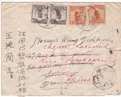 Lettre Shanghai 1926 Scann Recto Verso - Chine