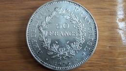 Pièce En Argent De 50 Francs Hercule 1975 - France