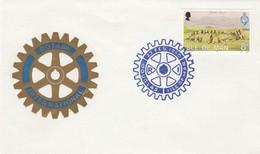 ROTARY.  ISLE OF MAN. FDC. 1980 - Rotary, Lions Club