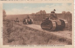 CAMP DE CHAMBARAN 504e Chars De Combat En Maneuvre 93H - Manovre