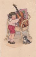 Fritz Baumgarten Boy ,aking Music For His Teddybear - 1900-1949