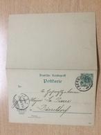 K6 Deutsches Reich Ganzsache Stationery Entier Postal P 31a Von Berncastel Nach Düsseldorf - Deutschland