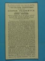 Leonie Flederyck épse Vandamme Jabbeke 1860 Breedene 1938 - Images Religieuses