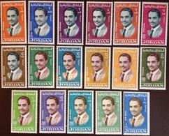 Jordan 1966 King Hussein Definitive Set MNH - Jordan