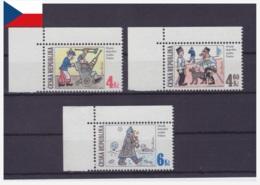 République Tchèque 1997 - MNH ** - Bandes Dessinées - Michel Nr. 153-155 Série Complète (cze008) - Tchéquie