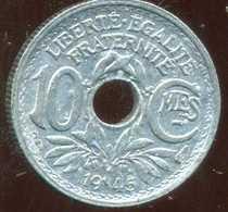 FRANCE  10 Centimes 1945  ( Petit   Module ) ( SUP ) - D. 10 Centimes