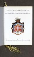 Araldica - Ordine Di Malta - Delegazione Dell'Emilia Occidentale - 1996 - Livres, BD, Revues