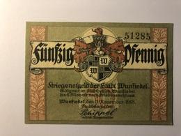 Allemagne Notgeld Allemagne Wunfiedel 50 Pfennig - [ 3] 1918-1933 : République De Weimar