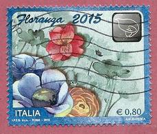 ITALIA REPUBBLICA USATO 2015 - Esposizione Floristica Floranga - € 0,80 - S. 3551 - 6. 1946-.. Repubblica