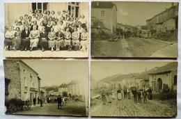 LOT 4 CARTES-PHOTOS ( 3 SENAIDE (88) + 1 BOURBONNE (52) - France