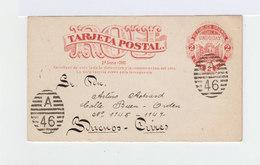 Entier Postal Uruguay Montendeo 1891. Tarjeta Postal. Oblitéré A 46. Correspondance. Réponse Payée Non Utilisée. (953) - Uruguay