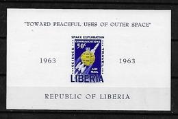 #B88B# LIBERIA MICHEL BL 27B MNH**, SPACE. - Liberia