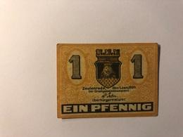 Allemagne Notgeld Allemagne Zeulenroda 1 Pfennig - [ 3] 1918-1933 : République De Weimar