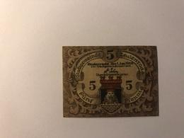 Allemagne Notgeld Allemagne Zeulenroda 5 Pfennig - [ 3] 1918-1933 : République De Weimar