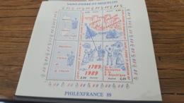 LOT 429532 TIMBRE DE COLONIE SAINT PIERRE ET MIQUELON NEUF** LUXE BLOC - Blocks & Kleinbögen