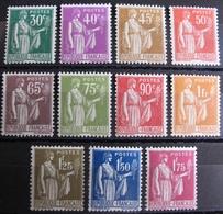 R1692/410 - 1932 - TYPE PAIX - N°280 à 289 NEUFS** (SERIE COMPLETE) - Cote : 330,00 € - Frankreich