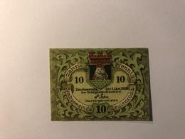 Allemagne Notgeld Allemagne Zeulenroda 10 Pfennig - [ 3] 1918-1933 : République De Weimar