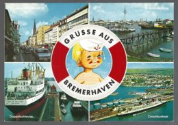 CP 285-12-Grüsse Aus Bremerhaven:  Multivues, Divers Bateaux - Bremerhaven