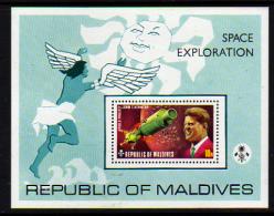 Maldives BF N° 21  XX  Exploration De L'espace, Le Bloc Sans Charnière, TB - Maldives (1965-...)