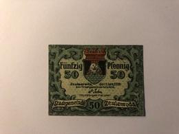 Allemagne Notgeld Allemagne Zeulenroda 50 Pfennig - [ 3] 1918-1933 : République De Weimar