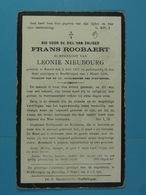 Frans Roobaert épx Nieubourg Kester 1857 Herffelingen 1928 - Images Religieuses