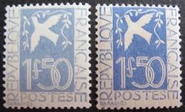 R1692/412 - 1934 - COLOMBE DE LA PAIX - N°294 Bleu Clair NEUF** / N°294 NEUF* - Cote : 180,00 € - Frankreich