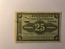 Allemagne Notgeld Allemagne Zinnowitz 25 Pfennig - [ 3] 1918-1933 : République De Weimar