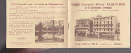 Morbihan -  Malestroit - Clinique Chirurgicale Maison De Repos Avec Poste De T.S.F., Piano, Phonographe - Publicités