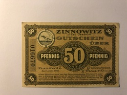 Allemagne Notgeld Allemagne Zinnowitz 50 Pfennig - [ 3] 1918-1933 : République De Weimar