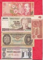 Pays Du Monde 10 Billets Dans L 'état Lot N °1 - Monnaies & Billets
